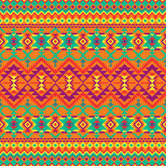 Geometric seamless pattern in ethnic style.