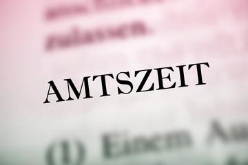 AMTSZEIT - farbiger Hintergrund