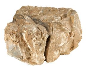 Rock stone isolated on white background