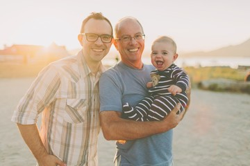Grandfather with son and grandson