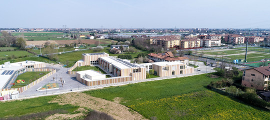Generic commercial distric under construction, aerial photo, no logos or trademarks, RF photo