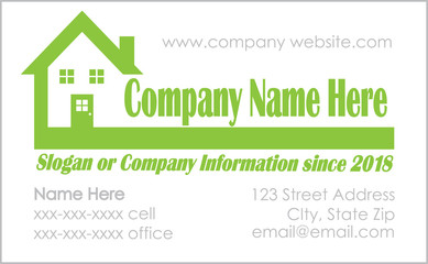 Green house logo Business Card template