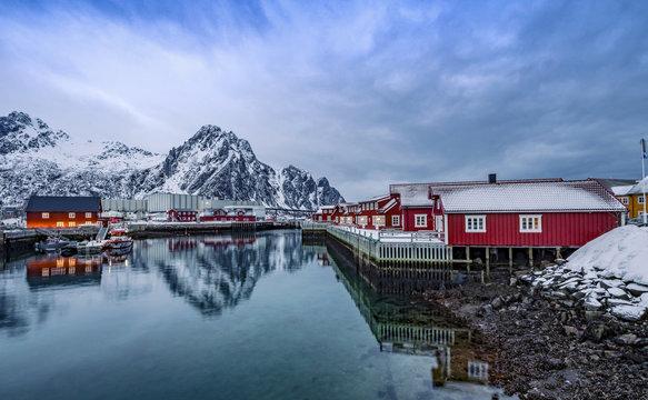 Bay of Slvolvaer Lofoten Islands Norway