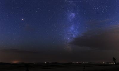Milky Way at dawn over Gobustan