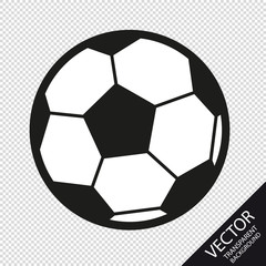 Soccer Icon - Vector Illustration - Isolated On Transparent Background