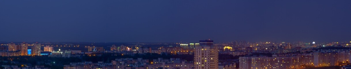 Panorama of the city of Minsk
