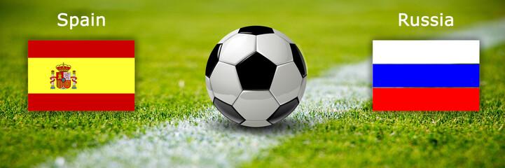 Fussball - Spanien gegen Russland
