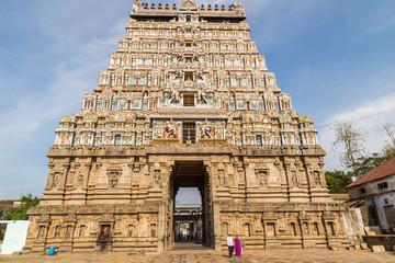 Incredible Hindu temple entrance, South India