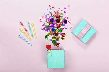Minimalism. Happy Birthday. abstract, anniversary, background, party background. copy space.