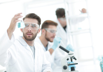 closeup.scientists in the laboratory