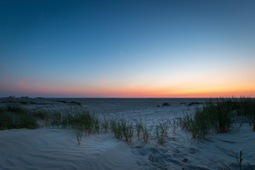 Sunset St. Peter-Ording beach