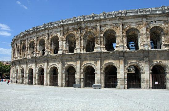 Arènes de Nîmes, département du Gard, France