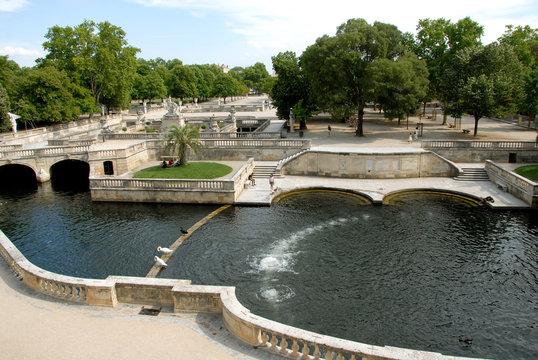 Jardins de la Fontaine (XVIIIe siècle), ville de Nîmes, département du Gard, France