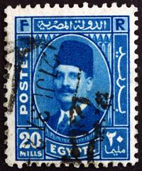 Postage stamp Egypt 1934 King Fuad I of Egypt