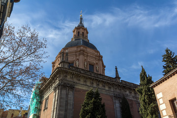 Amazing view of St. Andrew Church in City of Madrid, Spain