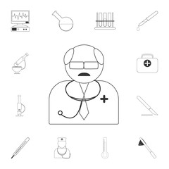 Autarchy of a doctor icon. Simple element illustration. Autarchy of a doctor symbol design from Medical collection set. Can be used for web and mobile