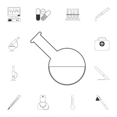 Medical test-tube icon. Simple element illustration. Medical test-tube symbol design from Medical collection set. Can be used for web and mobile