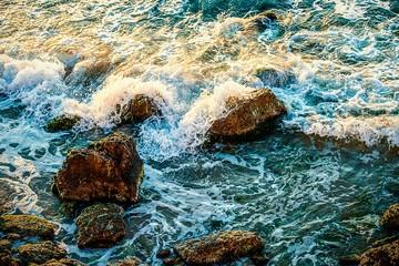 Splash water of sea wave