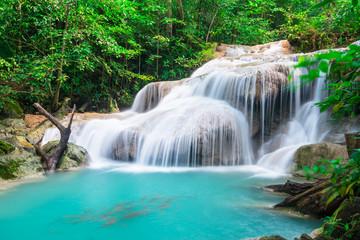 Wall Mural - Waterfall at Erawan National Park, Thailand