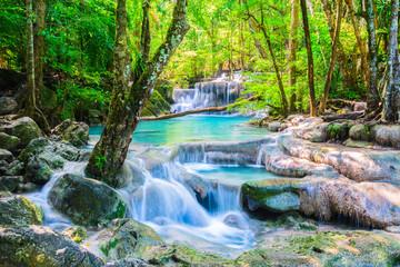 Wall Murals Waterfalls Erawan Waterfall in Thailand
