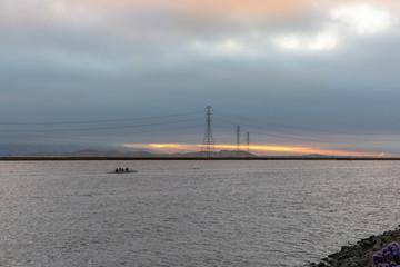 Rowers on the Bay at Dawn, San Francisco Bay