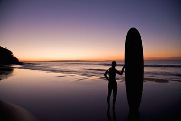 Australia Surfer Sunset Sunshine Coast Queensland