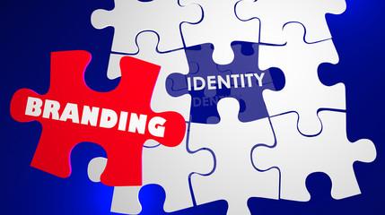 Branding Identity Marketing Management Puzzle 3d Illustration