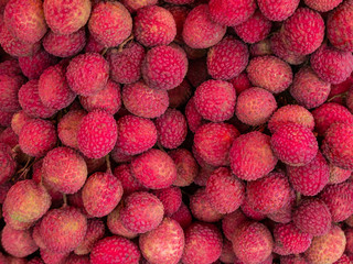 Fresh lychee background.
