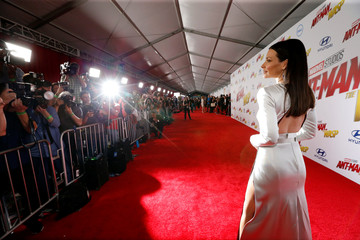 """Evangeline Lilly attends the premiere of the movie """"Ant-Man and the Wasp"""" in Los Angeles"""