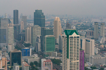 Bangkok cityscape from the air