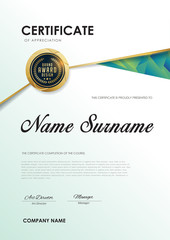 certificate template with luxury pattern diploma,Vector illustration.