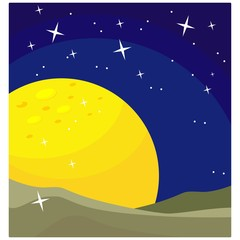 moon outer space planet astronomy scenery view landscape background