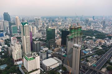 Modern Asian megalopolis cityscape