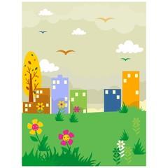 grassland yard countryside scenery landscape background