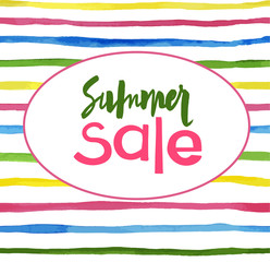 watercolor lines background Summer sale