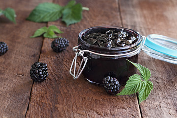 Blackberry Preserves and Fresh Blackberries
