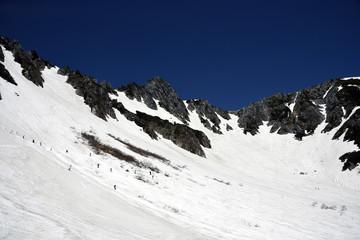残雪期の千畳敷カール