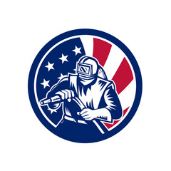 American Sandblaster USA Flag Icon