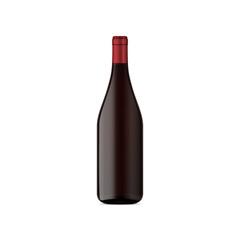 vector mock up wine bottle red color