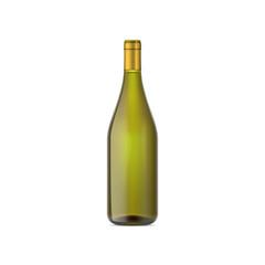 vector mock up wine bottle green color