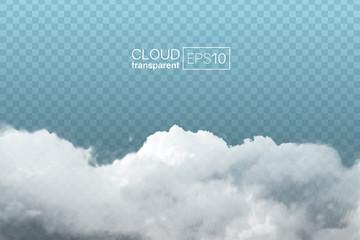 Fototapeta transparent realistic cloud obraz