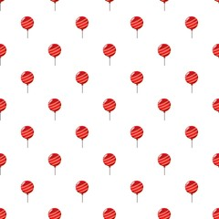 Red balloon pattern seamless repeat in cartoon style vector illustration