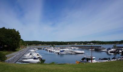 Harbor in Nevlunghavn village, Larvik municipality, Norway.