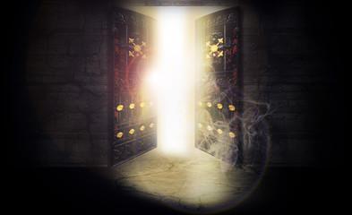 The open door, magic