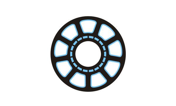 Super Hero Reactor Chest Man Iron clip art logo design vector
