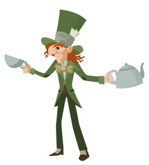 mad hatter with teapot