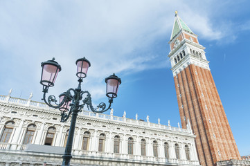 Fotomurales - Campanile in Doge's palace, Venice, Italy