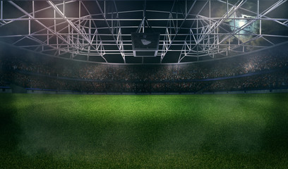 american football soccer stadium 3D rendering