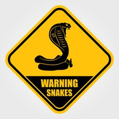 Snake warning sign. Vector illustration.