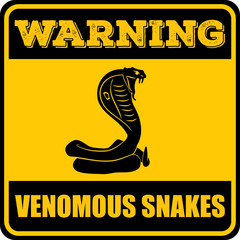 Snake warning sign. Vector illustration.